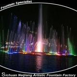 Sich hin- und herbewegender musikalischer See-Brunnen