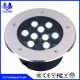 Lámpara al aire libre redonda y cuadrada IP65 impermeable para la luz subterráneo del suelo LED de la yarda del jardín