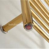 Porte-serviette chauffant en acier inoxydable suspendu au mur en couleur dorée