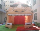 Túnel principal da mascote da explosão inflável do futebol com slogan da equipe