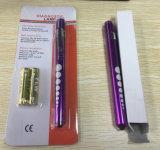 Mini indicatore luminoso chirurgico medico del dottore Nurse Puiple Pocket Pen