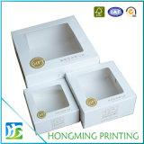 Изготовленный на заказ прозрачная коробка белого торта окна упаковывая