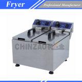 Friteuse électrique de double de machines de nourriture (DZL-082B)