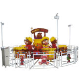 Happy Bear Lifting and Rotating Kids Ride Amusement Game Machine