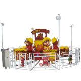 Máquina de levantamento e de giro do urso feliz dos miúdos do passeio do divertimento de jogo