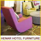 Mobília cor-de-rosa do sofá do assento da sala de estar da cadeira do acento para a entrada de cinco estrelas do hotel