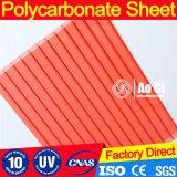 Hoja protegida ULTRAVIOLETA del policarbonato para el edificio