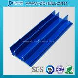 Verdrängte Aluminium 6063 T5 Profil für Baumaterial-Fenster-Tür kundenspezifische Größen-Farbe