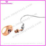 로즈 금 심혼 귀걸이는 여성을%s 스테인리스를 놓았다