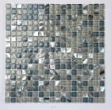 Frischwassershell-und Marmor- und Kristallglas-Mosaik-Fliese