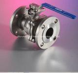 Investindo a válvula de esfera da flutuação do aço inoxidável da carcaça com punho