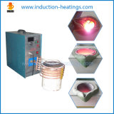 Машина индукции IGBT плавя, опрокидывая печь для золота, медь утюга