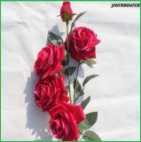 고품질 인공 꽃 결혼식 홈 훈장을%s 가짜 로즈 꽃