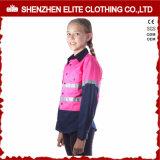 Kinderen van Workwear van de Jonge geitjes van de Veiligheid van de Bouw van uniformen de Weerspiegelende