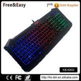 무지개 PC를 위한 다채로운 LED 역광선 USB 104 키 도박 키보드
