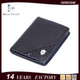 Подгонянный бумажник краткости подарка неподдельной кожи высокого качества конструкции Handmade для людей
