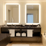 Miroir intelligent d'éclairage LED de fonction du marché de salle de bains de commutateur BRITANNIQUE de détecteur