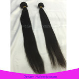 未加工バージンの毛の織り方の製造業者のインドのまっすぐな人間の毛髪