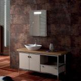 Espelho leve do diodo emissor de luz de Fogless do banheiro fixado na parede para o hotel