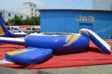 スライドが付いている小型水公園の膨脹可能な浮遊トランポリン