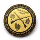 Moneda de encargo de la colección del oro del recuerdo de la guerra civil del metal