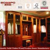 Garde-robe assemblée par chambre à coucher de luxe en bois solide (GSP9-014)
