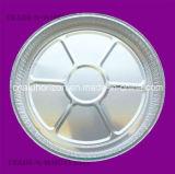 """7 """" 둥근 포일 테이크아웃 팬 W/Clear 뚜껑 처분할 수 있는 알루미늄 콘테이너"""
