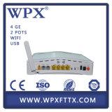 unità ottica della rete di voce FTTH di 2pots+4fe Gpon Ontario della fibra domestica del modem