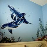 Печатание цифров настенных росписей Eco-Friendly стены графиков полного цвета внешнее