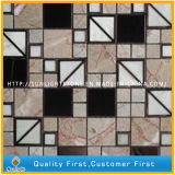 Mattonelle di marmo bianche scure della parete del mosaico della pietra del mosaico di Emperador Oritenal