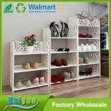 4 acoda el estante de madera del zapato del almacenaje del escaparate de los diseños para la venta