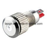 Indicador LED de 8 mm a prueba de agua de latón niquelado Lámpara piloto