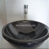 Granito natural baño de mármol oval fregaderos, piedra redonda lavabos, sólido fregadero recipiente de superficie, granito Lavabos