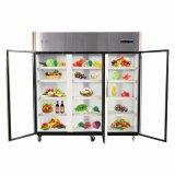 Refrigerador de cristal de la visualización del refrigerador de la cocina de tres puertas del oscilación para la venta