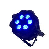 Rasha Aquos新しい屋外のIP&⪞ Aret; 5 &⪞ Aret; In1 RgbawのPower&simgの紫外線電池式の無線電信LEDの同価ライト; 承認される段階の照明イベントのセリウム