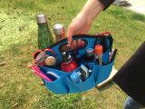 O organizador do transportador, encontra-o transportador da fonte, lona, 6 bolsos, 6 compartimentos, 10 laços do armazenamento