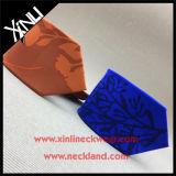 Laço de seda impressa de nó perfeito 100% artesanal de alta moda