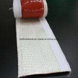 Fibra de vidro revestida silicone Firesleeve de Insualtion do calor com gancho & laço