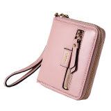Pocket Wallet del raccoglitore del cuoio genuino di alta qualità di modo 6 di colore della signora di piccola dimensione