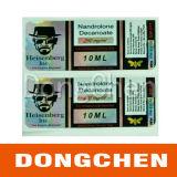 Étiquette de fiole d'hologramme d'injection de testostérone
