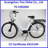 Bici eléctrica de la MEDIADOS DE del mecanismo impulsor de la manivela ciudad del motor con el sensor de la torque asistido