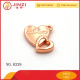 Fashion Rose Gold Jewelry Double Love Heart Pendant