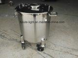 Бак для хранения нержавеющей стали 200 литров передвижной для сливк