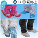 Nichtgewebter Schuh-Deckel mit rutschfestem, Wegwerfschuh-Deckel