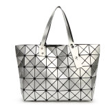 Señora geométrica rombal Handbag (A043-2) de la PU de la talla negra 7X8