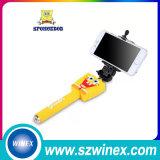 Drahtloser AluminiumSelfie Stock mit Bluetooth Blendenverschluss-Taste für Handy-Kamera