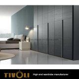 寝室のワードローブのキャビネットのアパートのためのカスタム家具の戸棚はTivo-0070hwを写し出す