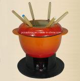 Decklack-Roheisen-Käse-Fondue-China-Lieferant