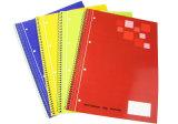 Livre d'exercice d'élève de cahier d'approvisionnement d'école pour le carnet spiralé promotionnel