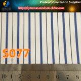 Tela tingida do forro do terno da listra do fio de poliéster. Tela tecida do forro de matéria têxtil (S76.77)